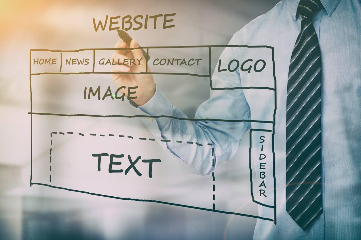un site web en création