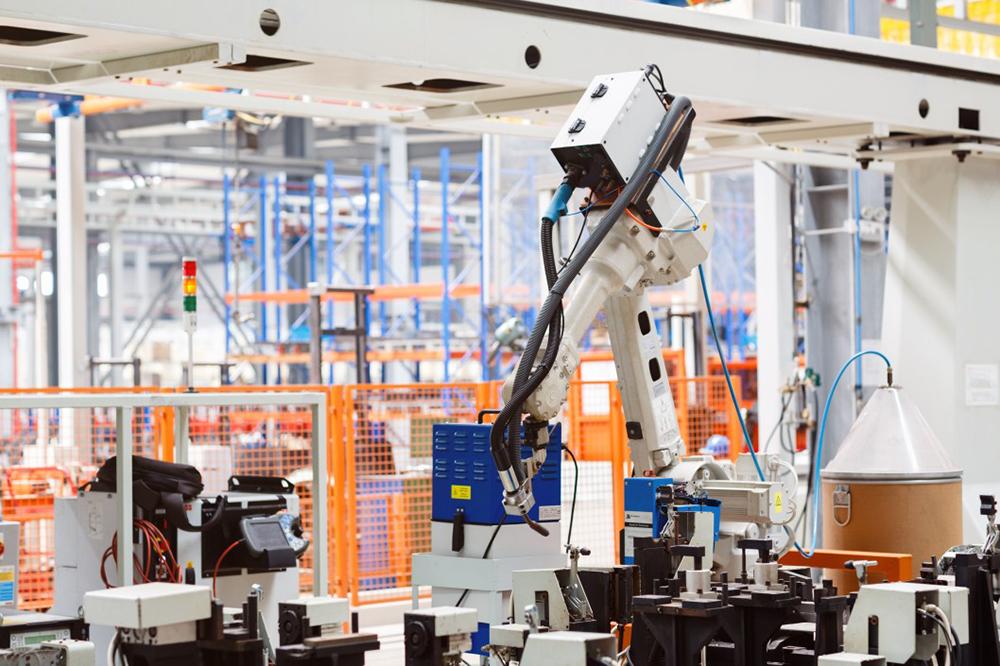 bras robotisé industriel